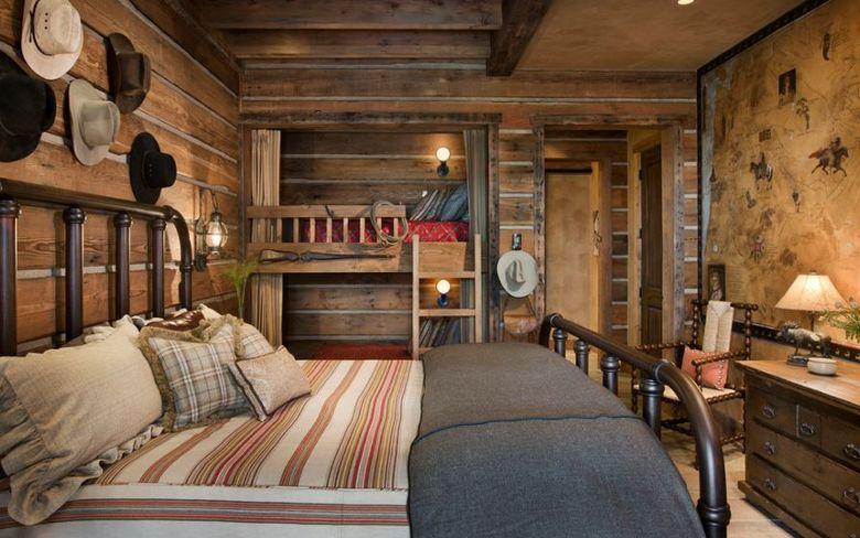 Двухъярусная кровать фото в деревенском стиле