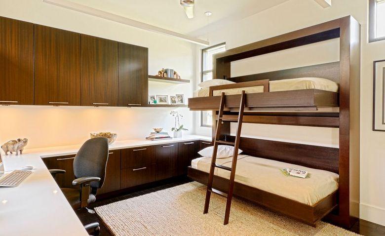 Двухъярусная кровать фото для гостевых спален