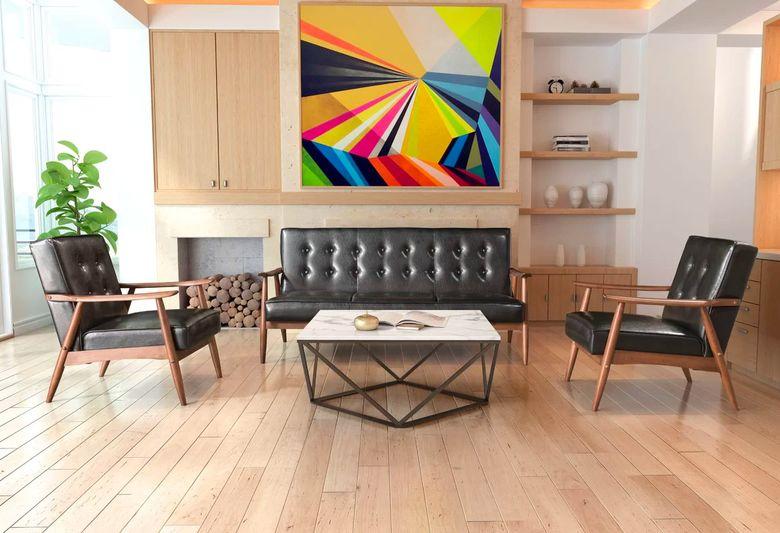 Cовременные гостиные фото произведения искусства