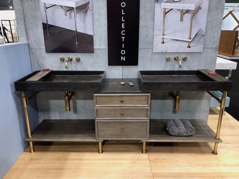 Современные ванные комнаты смешивание материалов
