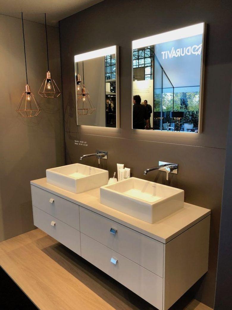 Современные ванные комнаты настенные краны