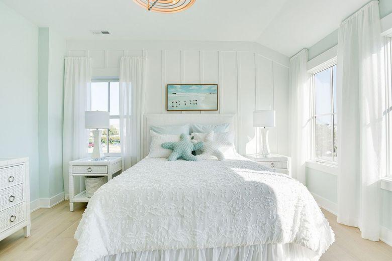 Цвета для спальни светлые пастельные тона с белым