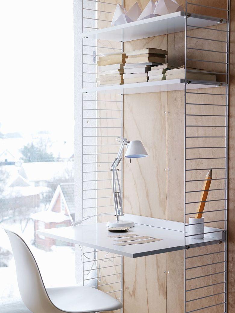 Рабочее место дома легко помещается в маленькие пространства