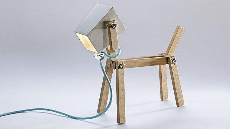 Красивые настольные лампы в форме собаки