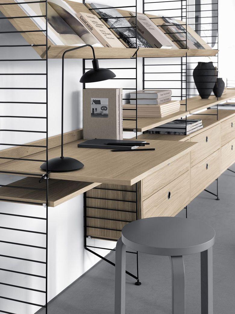 Рабочее место дома эргономика и скандинавская простота