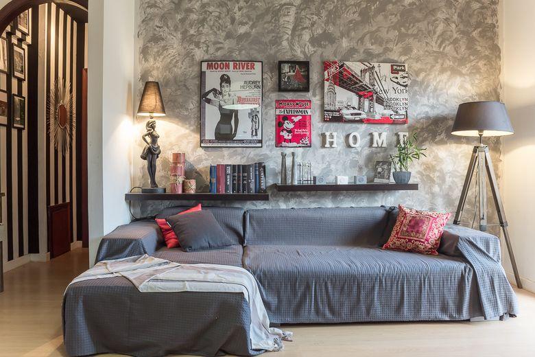 Релакс мебель диван серого цвета