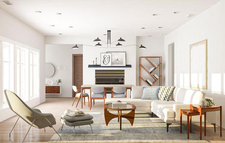 Cовременные гостиные фото с разнообразием форм и материалов