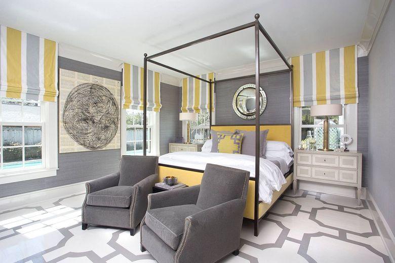 Цвета для спальни желто-серая гамма