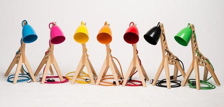 Красивые настольные лампы в форме жирафа