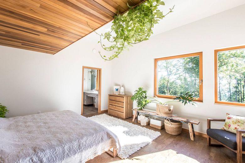 Цвета для спальни способ добавить зелени