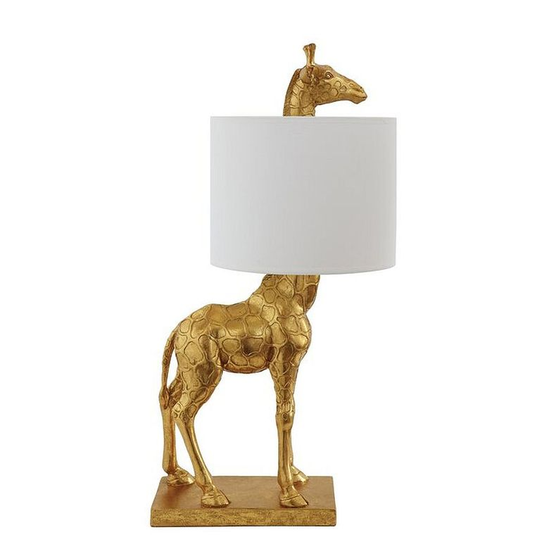Красивые настольные лампы с золотой отделкой в виде жирафа