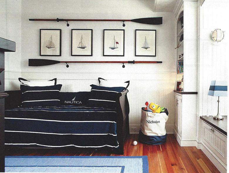 Цвета для спальни морские штрихи