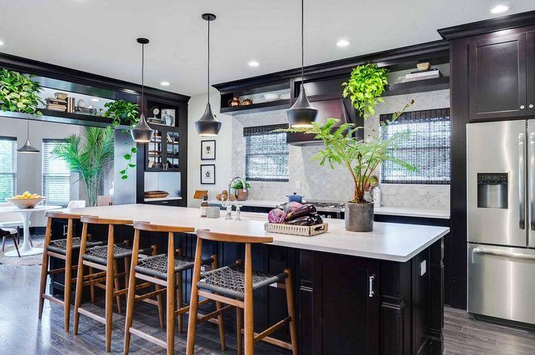 Стили кухни современный с зеленью