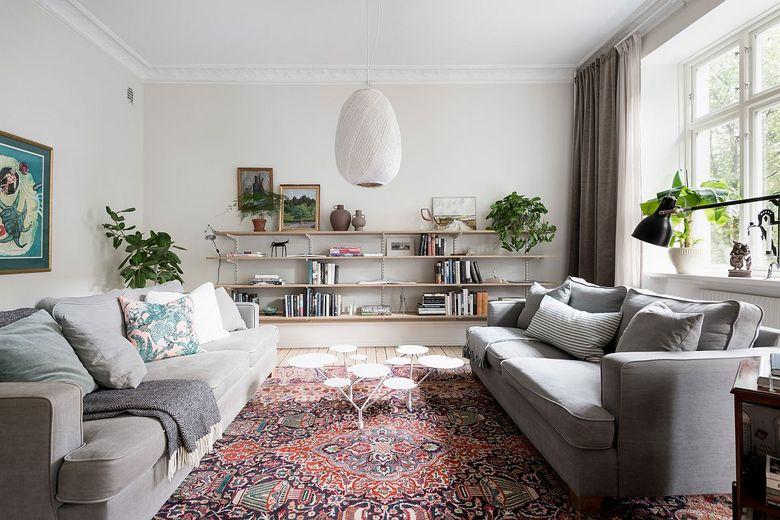 Идеи для гостиной с красивым ковром