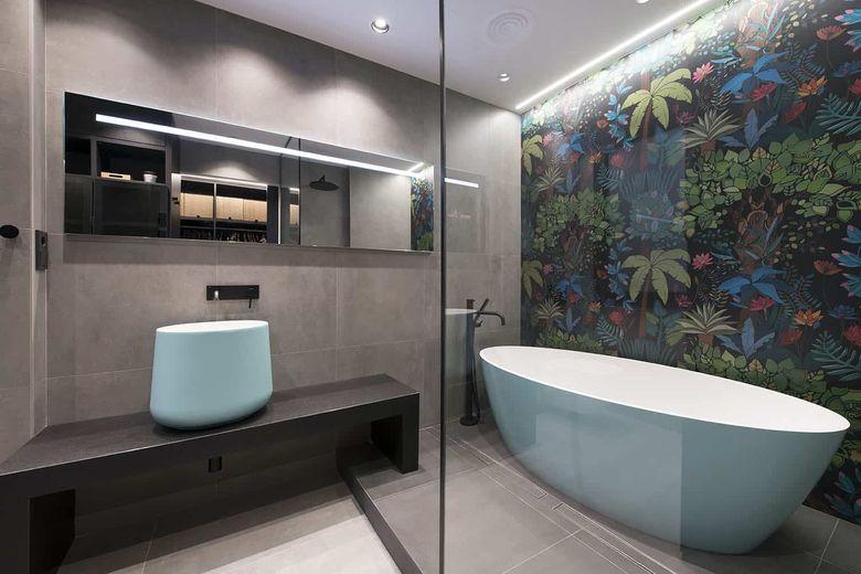 Квартира лофт ванная