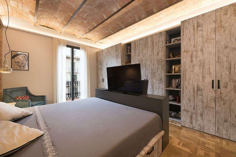 Квартира лофт спальня