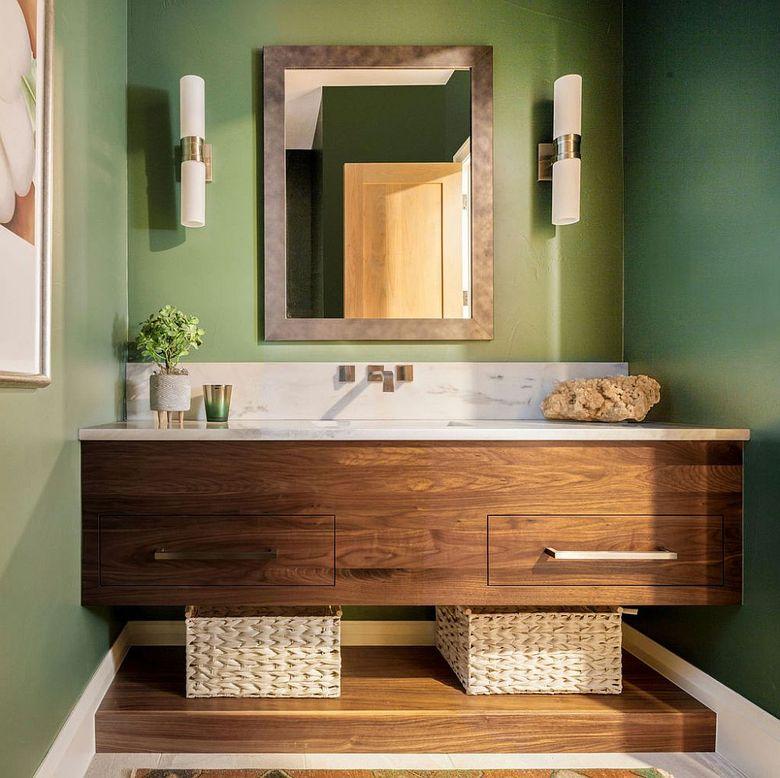 Туалетная комната деревянный туалетный столик