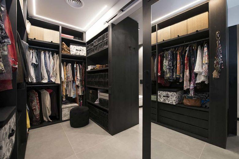 Квартира лофт гардеробная