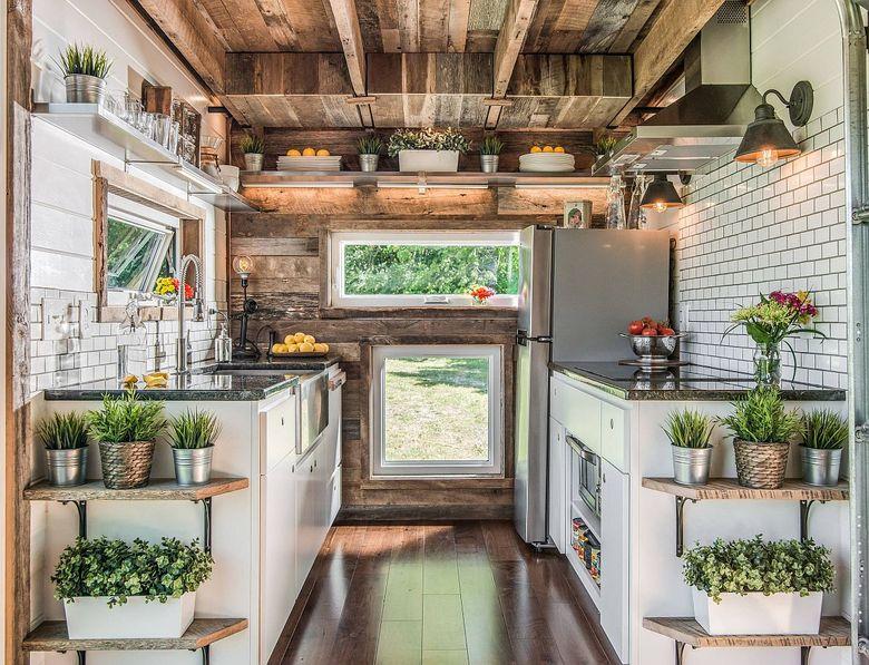 Стили кухни зеленые растения на кухне