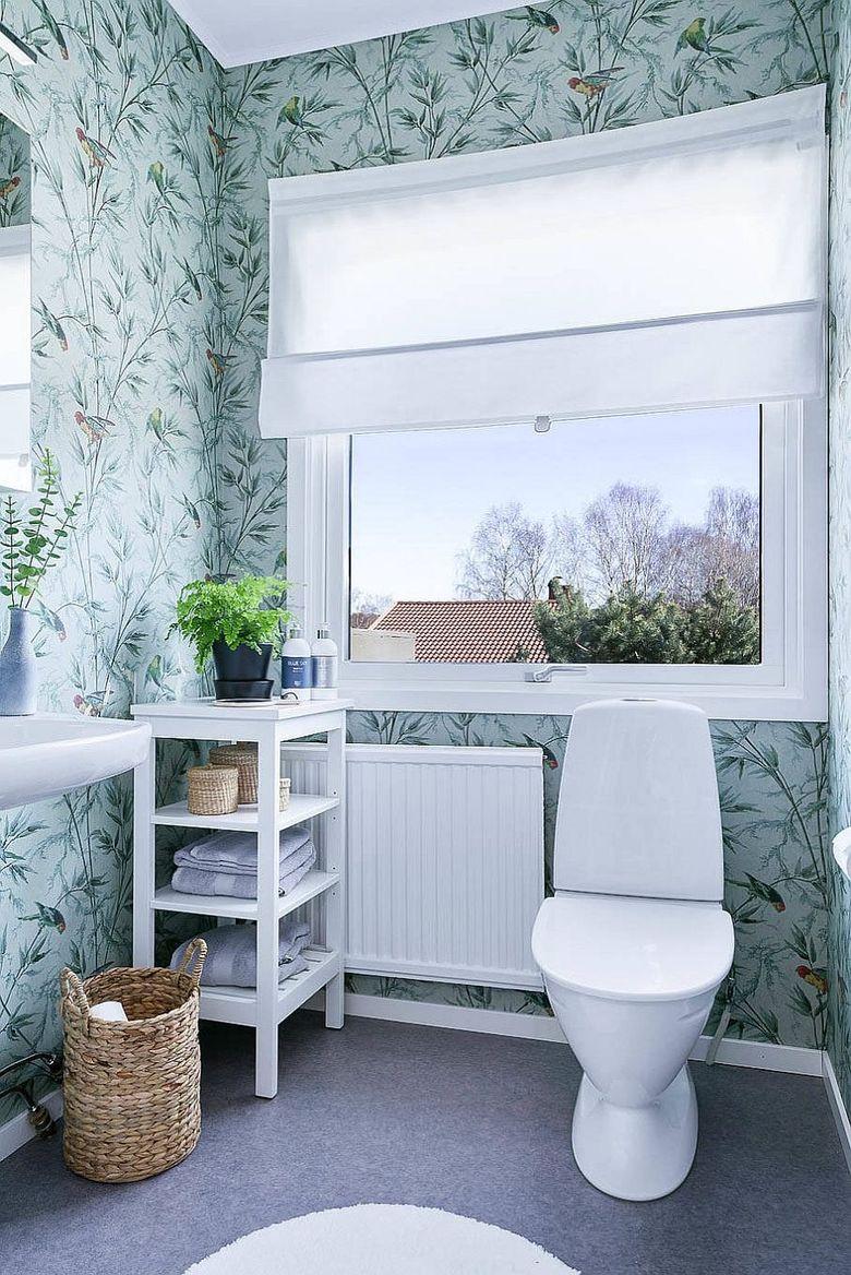 Туалетная комната в современном скандинавском стиле
