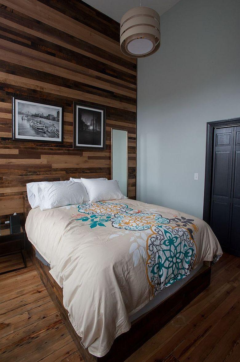 Акцентная стена в современной спальне