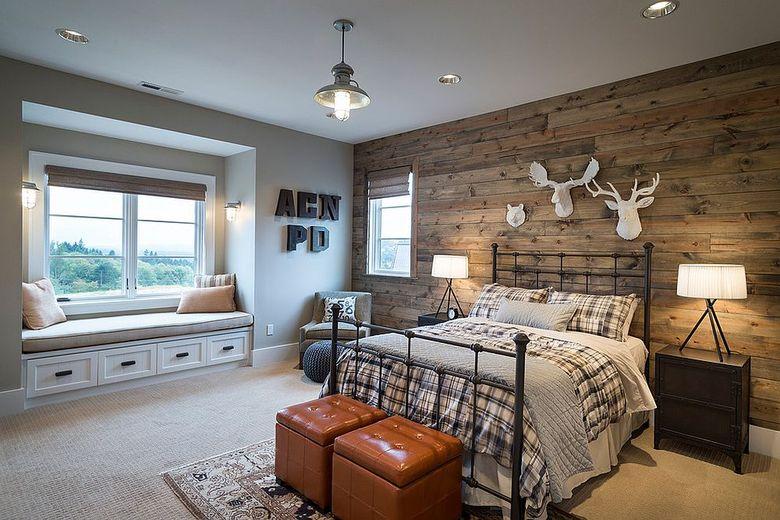 Акцентная стена в спальне намек на стиль