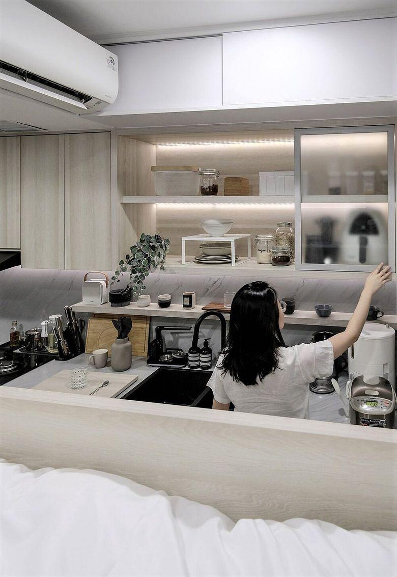 Дизайн маленькой квартиры кухня