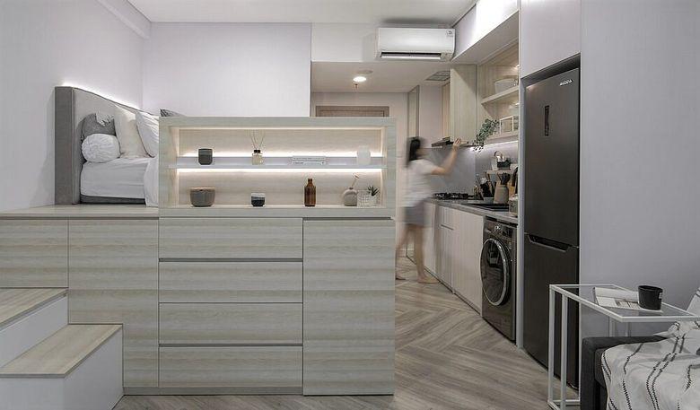 Дизайн маленькой квартиры кровать-чердак