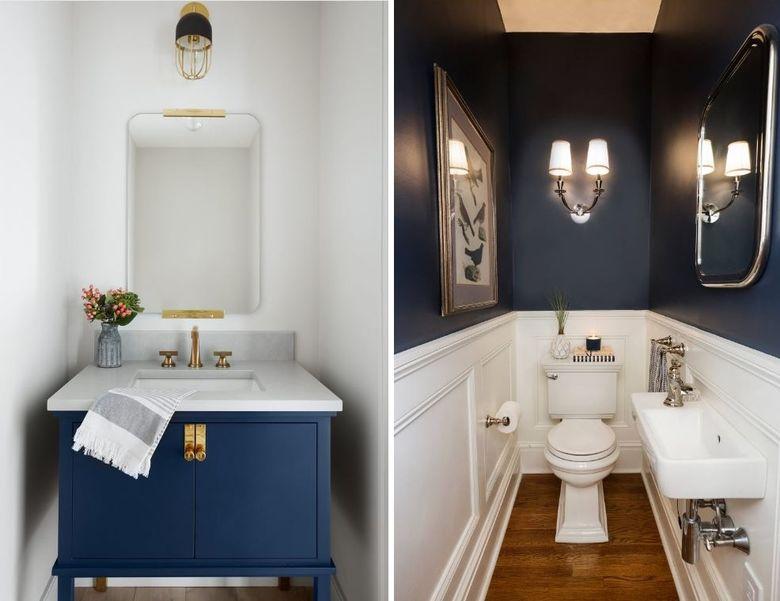 Дизайн туалета с раковиной гостевой туалет