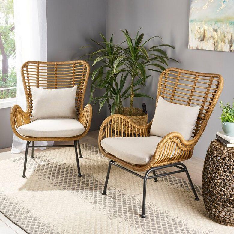 Кресла для гостиной сиденья из ротанга
