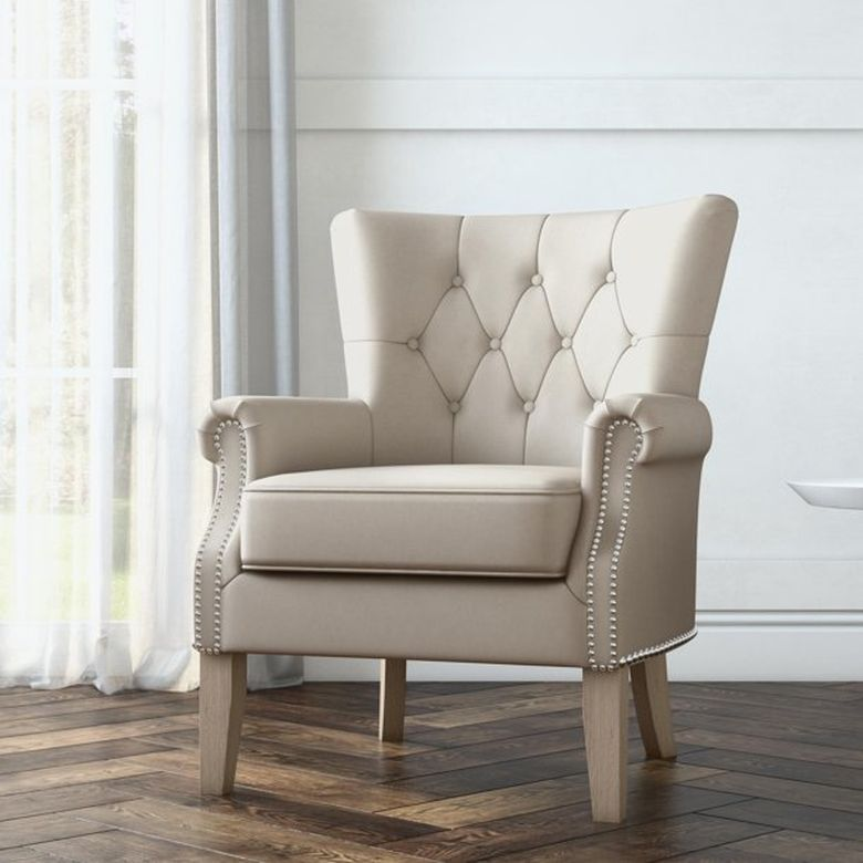 Кресла для гостиной бежевый стул