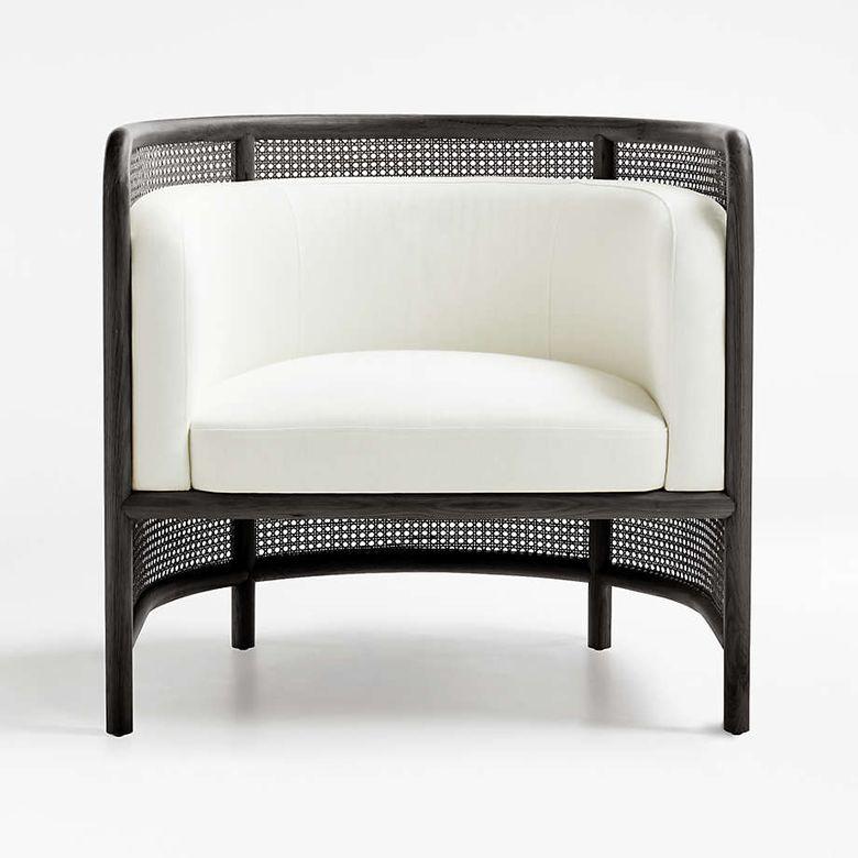 Кресла для гостиной стул-бочонок и мягкая подушка
