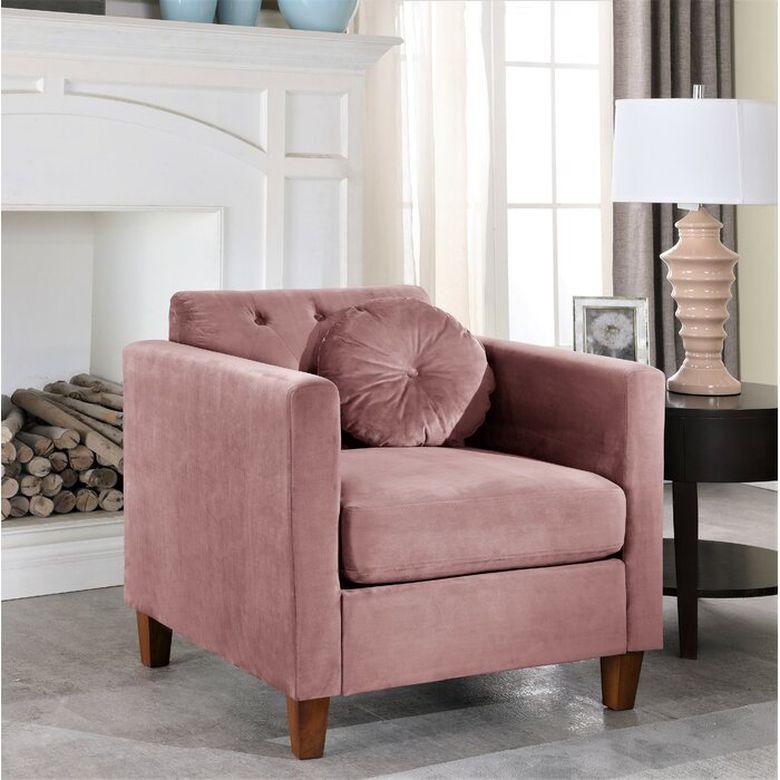 Кресла для гостиной бархатные