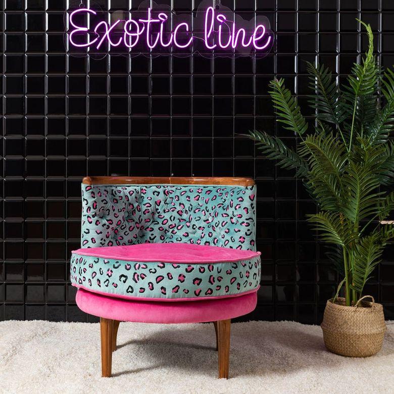 Кресла для гостиной с леопардовым принтом