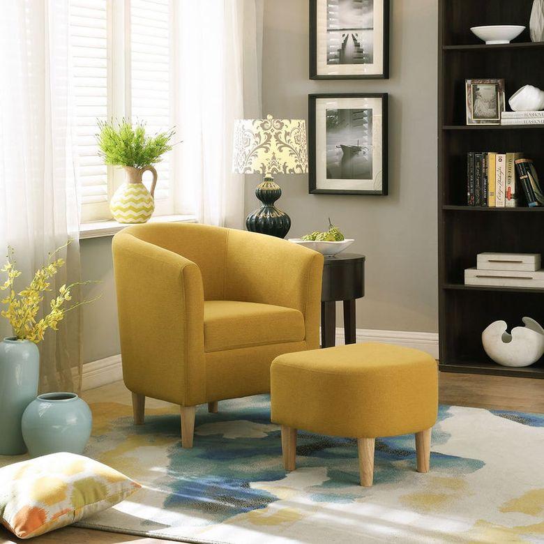 Кресла для гостиной с пуфиком