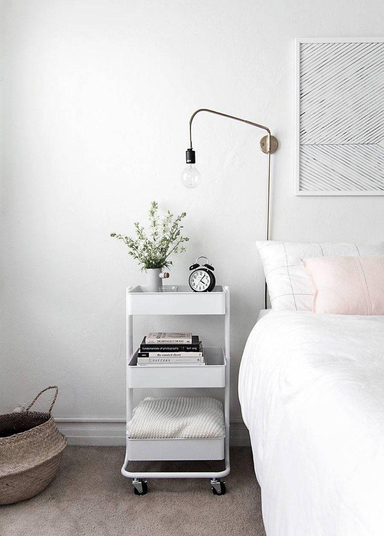 Идеи для спальни многоуровневая тележка