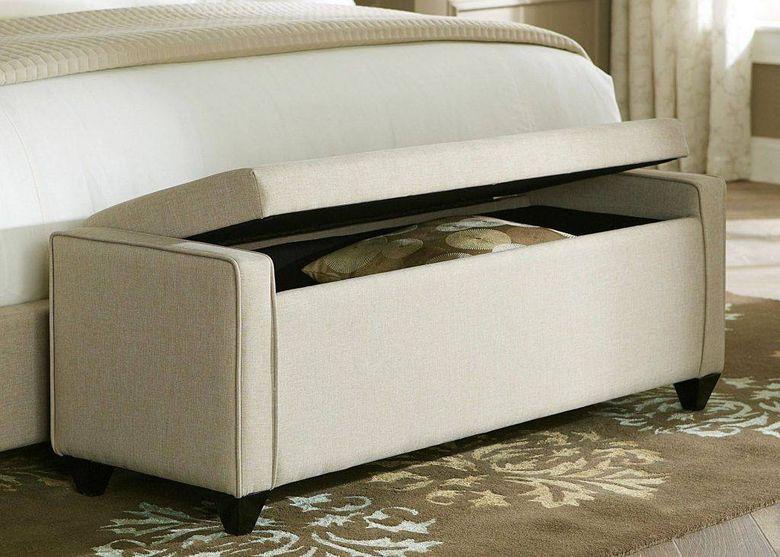 Идеи для спальни скамья для хранения