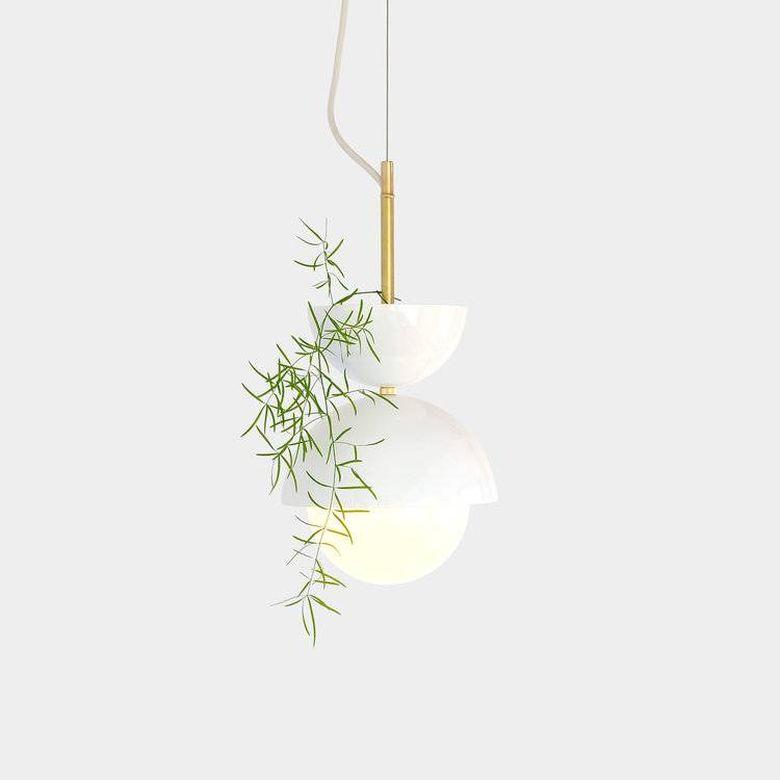 Светильник цветок подвесной кашпо