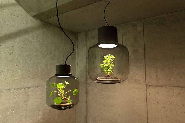 Светильник цветок стильная зелень