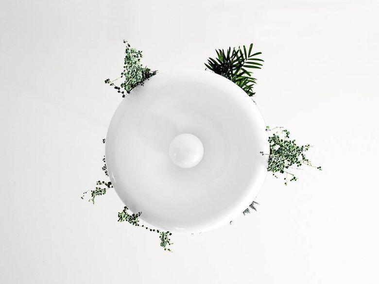 Светильник цветок снизу