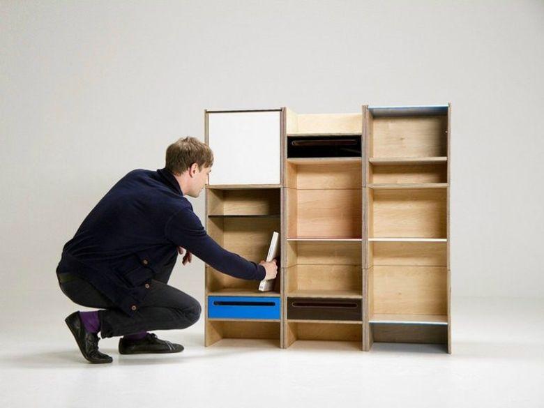 Модульная мебель книжный шкаф из фанеры
