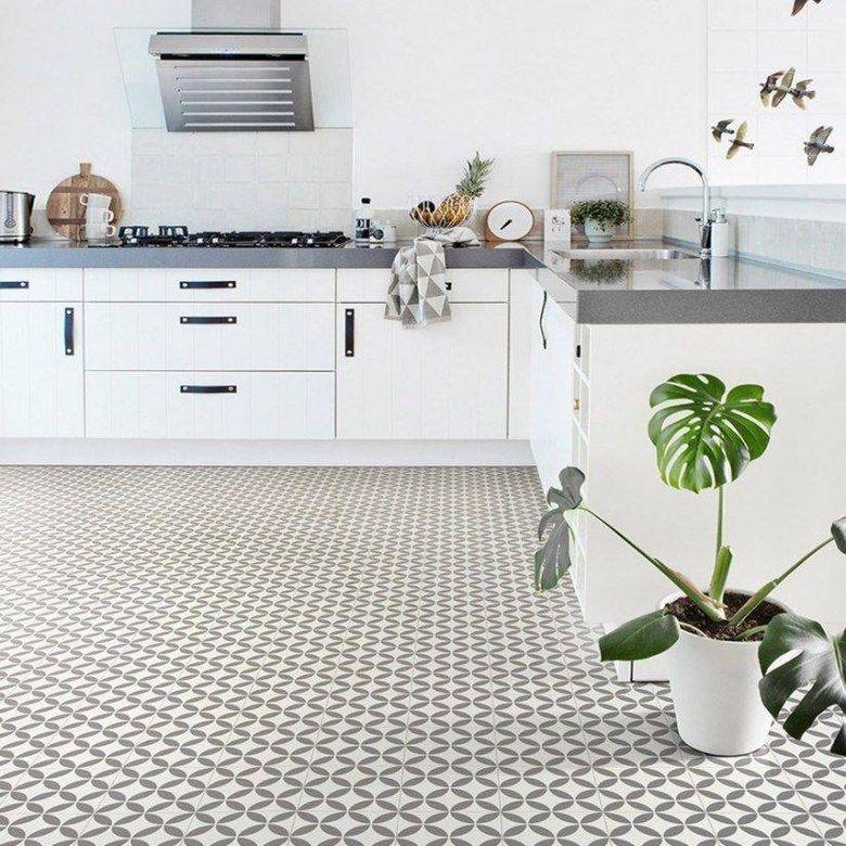 Кухня в стиле ретро винтажный пол