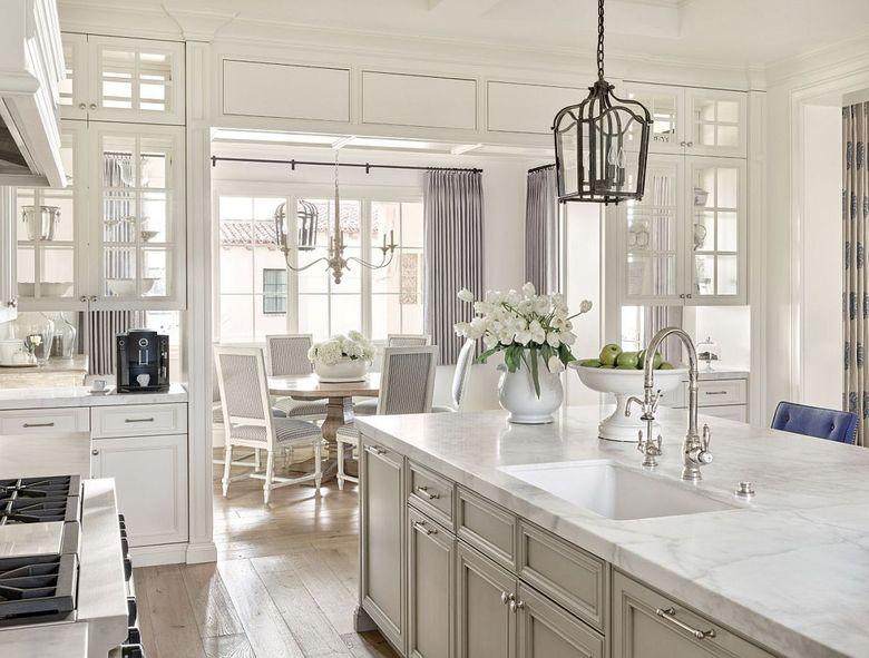 Кухня в стиле ретро белое на белом