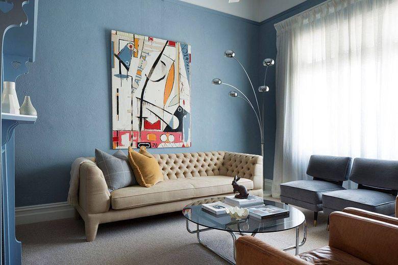 Цвет стен в гостиной светлые оттенки синег