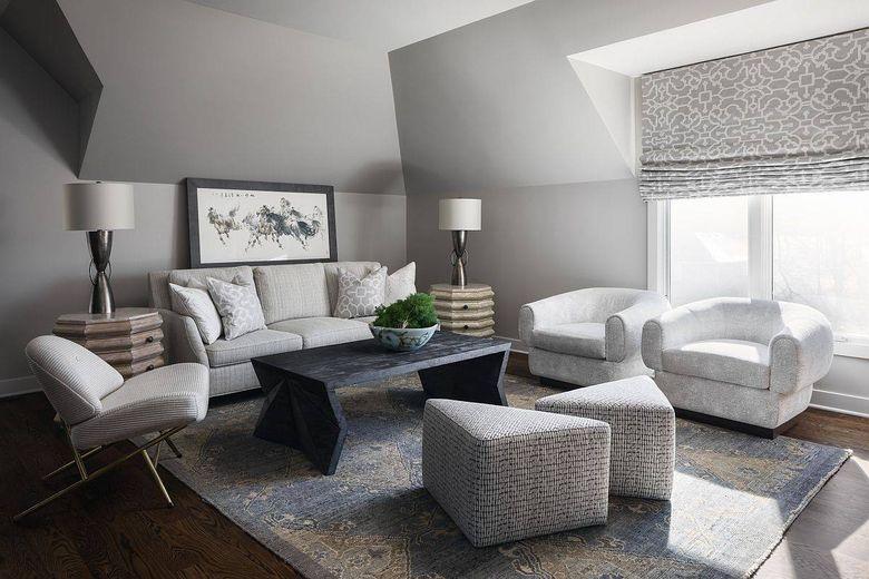 Цвет стен в гостиной серый